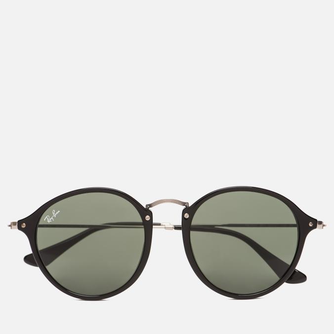 Солнцезащитные очки Ray-Ban Round Fleck Classic Green/Black/Silver