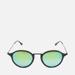 Солнцезащитные очки Ray-Ban Round Fleck Green Gradient Flash/Black фото- 0