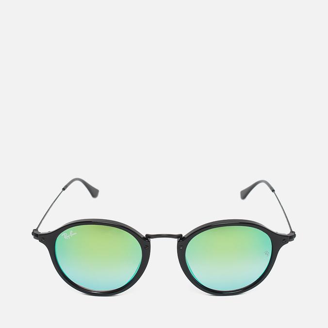 Солнцезащитные очки Ray-Ban Round Fleck Green Gradient Flash/Black