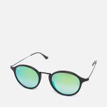 Солнцезащитные очки Ray-Ban Round Fleck Green Gradient Flash/Black фото- 1