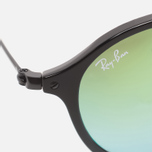 Солнцезащитные очки Ray-Ban Round Fleck Green Gradient Flash/Black фото- 2