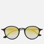 Солнцезащитные очки Ray-Ban Round Fleck Green Gradient Flash/Black фото- 0