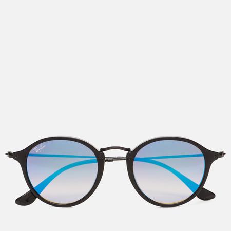 Солнцезащитные очки Ray-Ban Round Fleck Shiny Black
