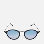 Солнцезащитные очки Ray-Ban Round Fleck Shiny Black фото- 0