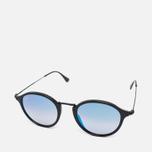 Солнцезащитные очки Ray-Ban Round Fleck Shiny Black фото- 1