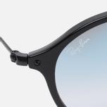 Солнцезащитные очки Ray-Ban Round Fleck Shiny Black фото- 2