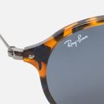 Солнцезащитные очки Ray-Ban Round Fleck Tortoise/Gunmetal фото- 2