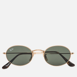 Солнцезащитные очки Ray-Ban Round Oval Flat Lenses Gold/Green Classic G-15 фото- 0