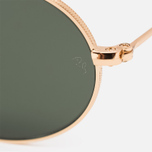 Ray-Ban Round Oval Flat Lenses Sunglasses Gold/Green Classic G-15 photo- 2