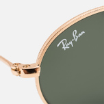 Солнцезащитные очки Ray-Ban Round Oval Flat Lenses Gold/Green Classic G-15 фото- 3