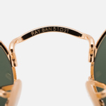Ray-Ban Round Oval Flat Lenses Sunglasses Gold/Green Classic G-15 photo- 4
