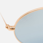 Солнцезащитные очки Ray-Ban Round Oval Flat Lenses Gold/Silver Flash фото- 2