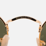 Солнцезащитные очки Ray-Ban Round Oval Flat Lenses Gold/Silver Flash фото- 3
