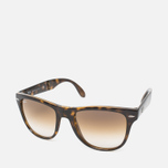 Солнцезащитные очки Ray-Ban Wayfarer Folding Brown/Tortoise фото- 1