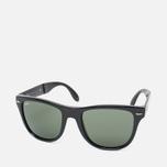 Солнцезащитные очки Ray-Ban Wayfarer Folding Green/Black фото- 1
