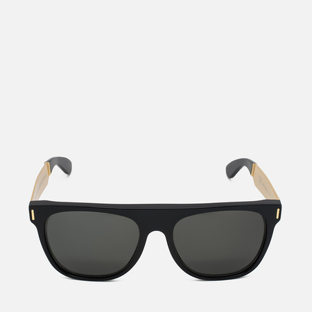 RETROSUPERFUTURE Flat Top Francis Sunglasses Black/Gold