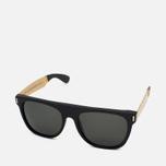 Солнцезащитные очки RETROSUPERFUTURE Flat Top Francis Black/Gold фото- 1