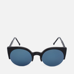RETROSUPERFUTURE Lucia Sunglasses Black/Blue photo- 0