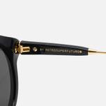 RETROSUPERFUTURE Panama Sunglasses Black/Ivory photo- 2