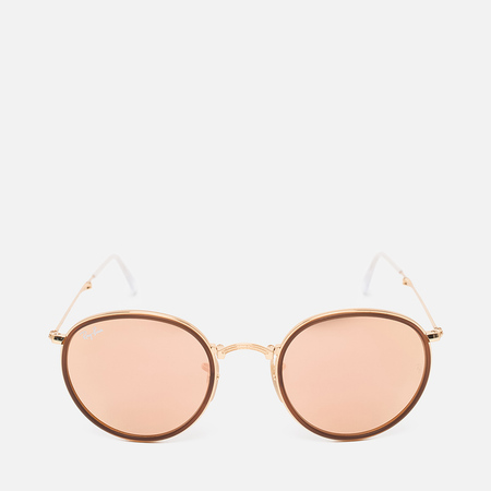 Солнцезащитные очки Ray-Ban Round Folding Copper Flash Gold