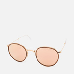 Солнцезащитные очки Ray-Ban Round Folding Copper Flash Gold фото- 1