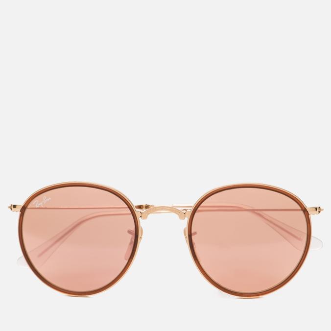 Солнцезащитные очки Ray-Ban Round Folding Copper Flash Gold