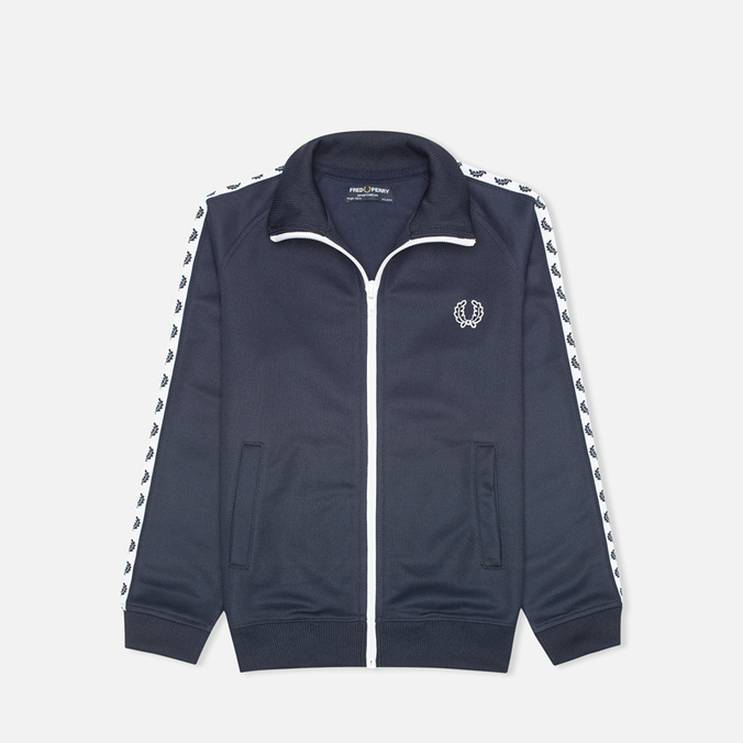 Fred Perry Laurel Wreath Tape Track Children's Track Jacket Dark Carbon