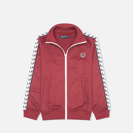 Fred Perry Laurel Wreath Tape Track Children's Track Jacket Maroon