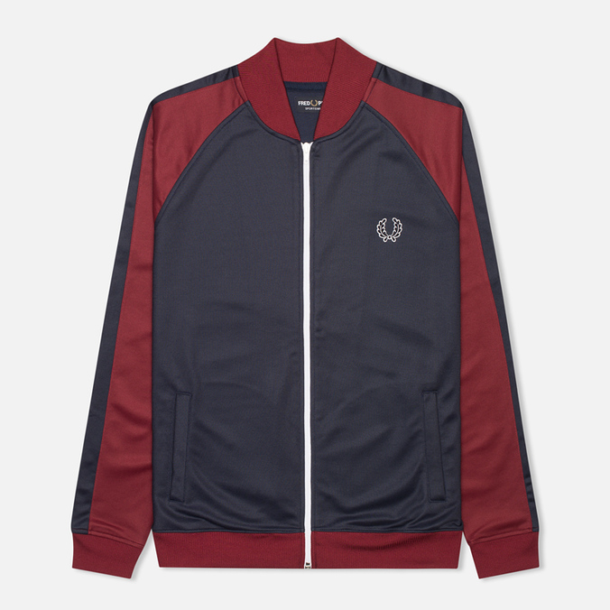 Fred Perry Bomber Men's Track Jacket Dark Carbon