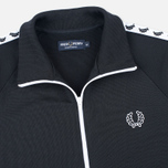 Fred Perry Laurel Wreath Tape Men's Track Jacket Black photo- 1