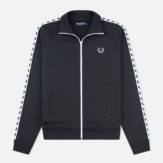 Fred Perry Laurel Wreath Tape Men's Track Jacket Black