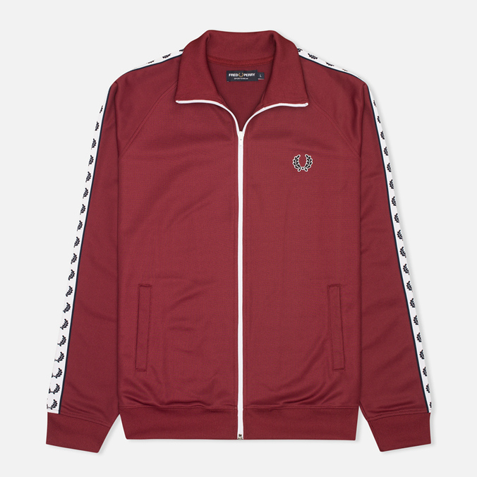 Мужская олимпийка Fred Perry Laurel Wreath Tape Track Maroon