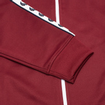 Мужская олимпийка Fred Perry Laurel Wreath Tape Track Maroon фото- 3