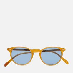 Солнцезащитные очки Oliver Peoples Riley Sun Semi Matte Amber Tortoise/Cobalto