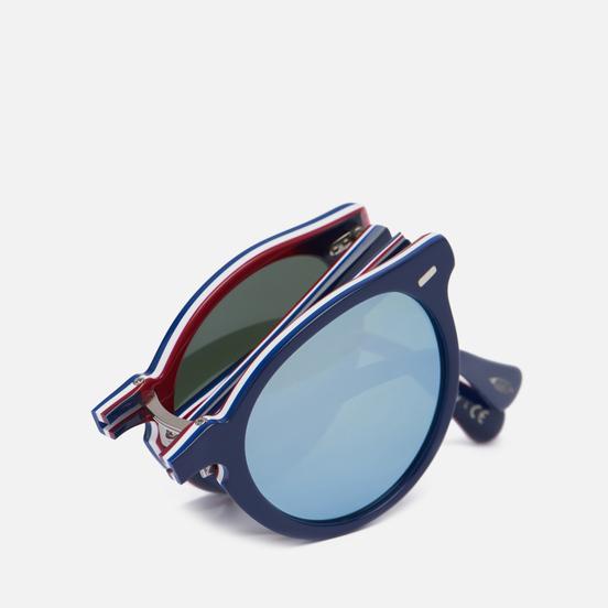 Солнцезащитные очки Oliver Peoples Gregory Peck 1962 Navy Blue/White/Burgundy/Navy/Silver Mirror