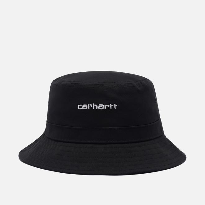 Панама Carhartt WIP Script Bucket 7.7 Oz Black/White