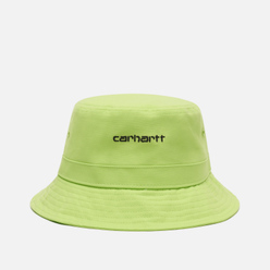 Панама Carhartt WIP Script Bucket 7.7 Oz Lime/Black