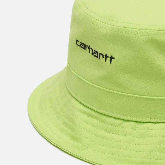 Панама Carhartt WIP Script Bucket 7.7 Oz Lime/Black