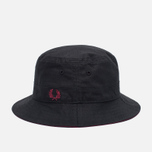 Панама Fred Perry Ripstop Reversible Fishermans Black/Maroon фото- 0