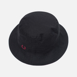 Панама Fred Perry Ripstop Reversible Fishermans Black/Maroon фото- 1