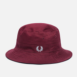Панама Fred Perry Ripstop Reversible Fishermans Black/Maroon фото- 3