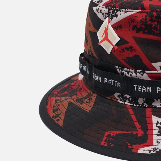 Панама Jordan x Patta NRG Jumpman Black/Multi Color/Light Crimson