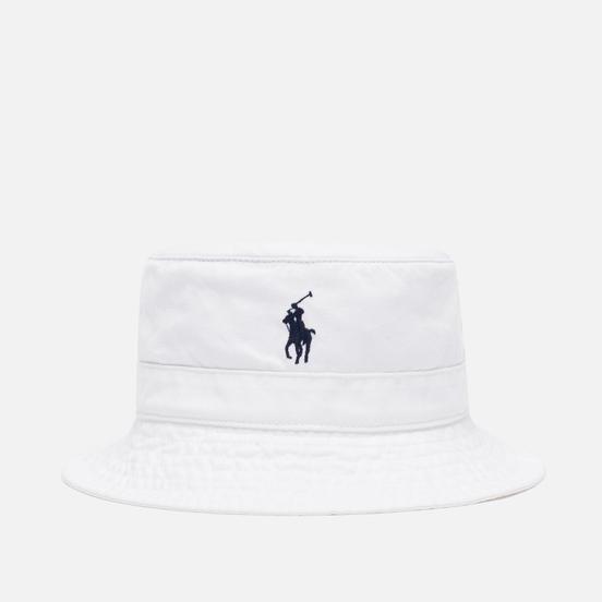 Панама Polo Ralph Lauren Loft Bucket Cotton Chino White