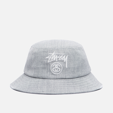 Панама Stussy Acrylic Stock Lock Bucket Grey Heather