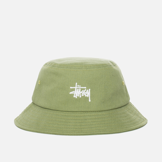 Панама Stussy Smooth Herringbone Olive