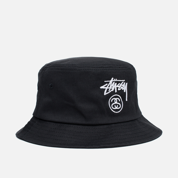 Stussy Stock Lock Panama Black