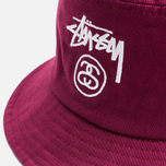 Панама Stussy Stock Lock Burgundy фото- 1