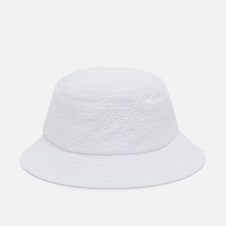 Stussy Stock Seersucker Panama White