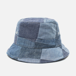 Universal Works Chambray Panama Patchwork Indigo photo- 0
