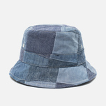 Панама Universal Works Chambray Patchwork Indigo фото- 0